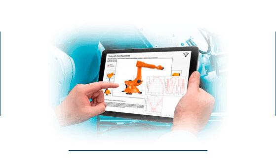 Sistema de maquinaría industrial gestionada desde tablet