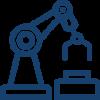 Icono brazo de industrial mecanizado